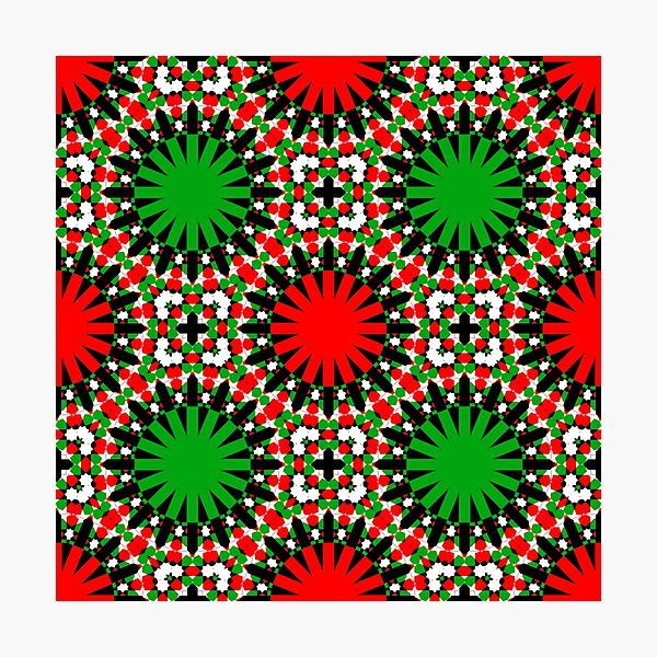 CHRISTMAS GEOMETRICS 2020 RANGE- A NEW KIND OF CHRISTMAS PATTERN FOR CLOTHING AND HOME DECOR #CHRISTMASCHEER2020 Photographic Print
