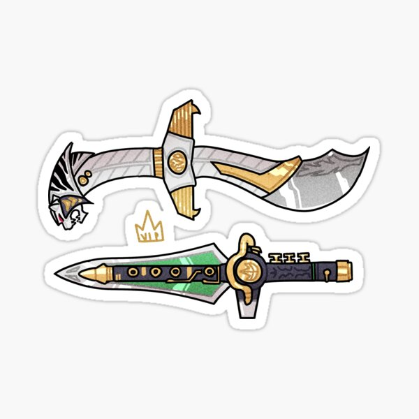Daggers For Long Haired Guys Sticker