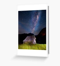 The barn at the end of the universe Greeting Card