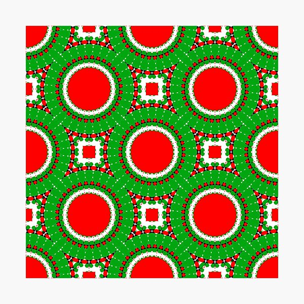 CHRISTMAS GEOMETRICS 2020 RANGE- GREEN CIRCLES A NEW KIND OF CHRISTMAS PATTERN FOR CLOTHING AND HOME DECOR #CHRISTMASCHEER2020 Photographic Print