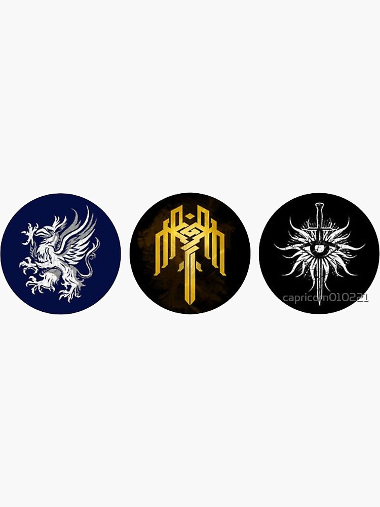 Dragon Age Trilogy Symbols by capricorn010221