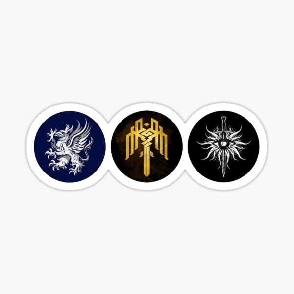 Dragon Age Trilogy Symbols Sticker