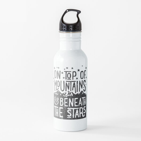 On Top Of Mountains Water Bottle