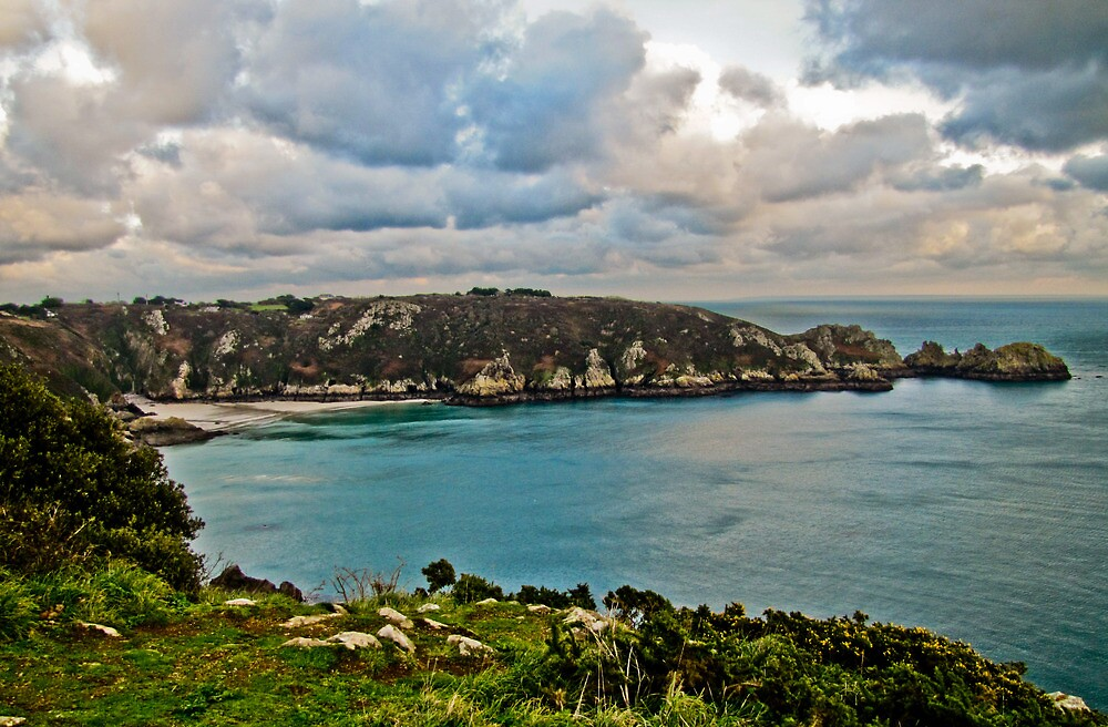 Coastal Landscape - Le Petit Port Guernsey by photosintheshed