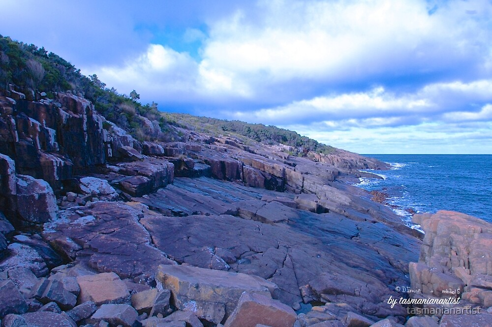TASMAN PENINSULA ~ Dangerous Rocks by tasmanianartist by tasmanianartist