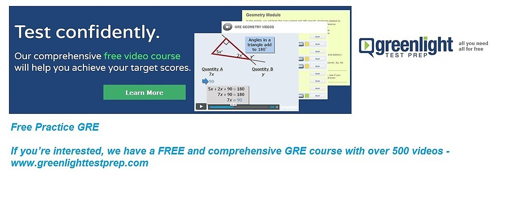 Free Practice GRE - www.greenlighttestprep.com by greenlighttest