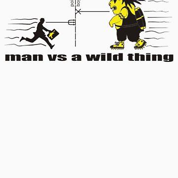 man vs a wild thing by atom-lino