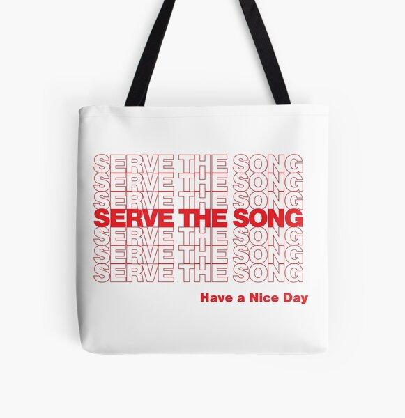 Servir la chanson Tote bag doublé
