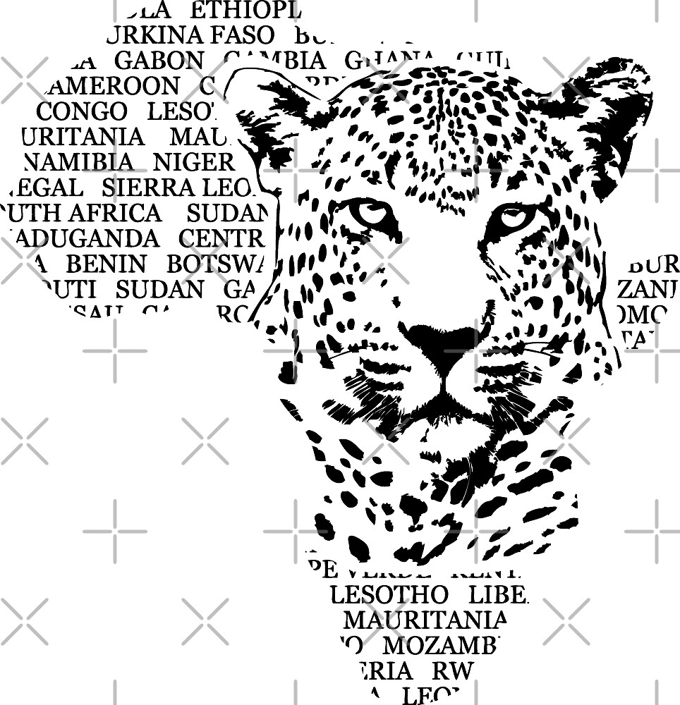 Quot Leopard Africa Map Quot By Port Stevens Redbubble