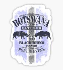 Botswana Rhino Safari Sticker