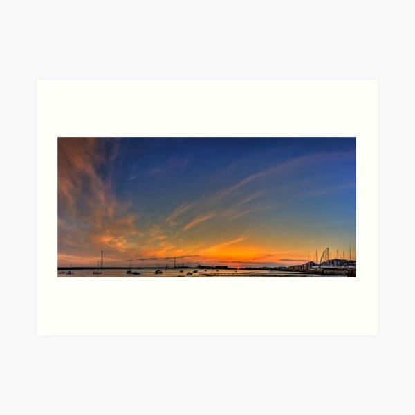 Sunset River Thames Grays Art Print