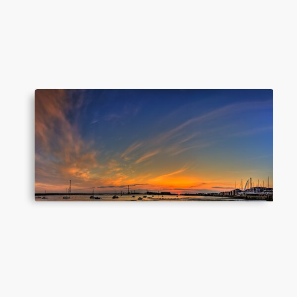 Sunset River Thames Grays Canvas Print