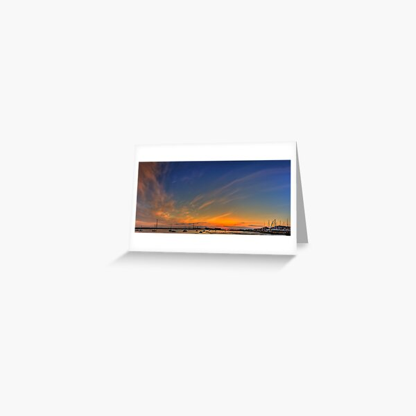 Sunset River Thames Grays Greeting Card