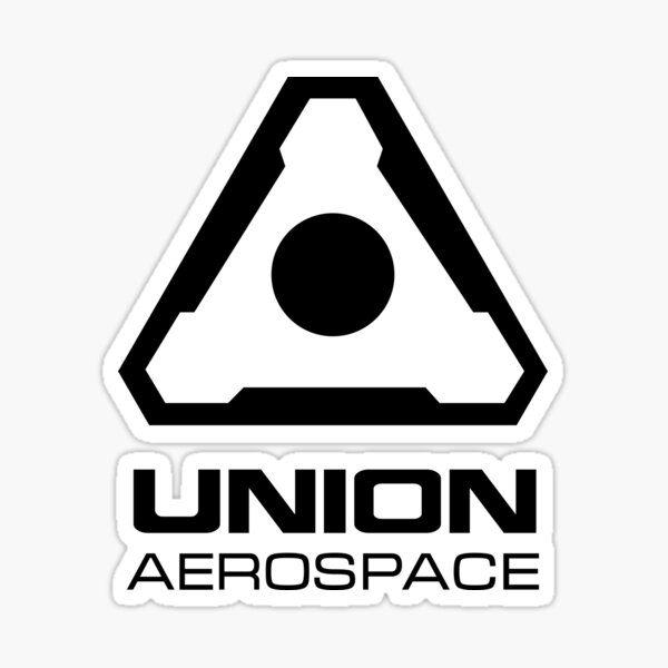 Union Aerospace - Black insignia Sticker