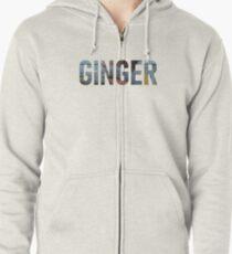 Ginger - Brockhampton Zipped Hoodie