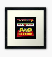 To The Kwik-E-Mart Framed Print