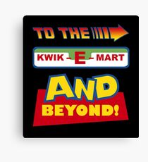 To The Kwik-E-Mart Canvas Print