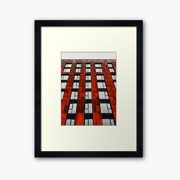Rusty apartments Framed Art Print