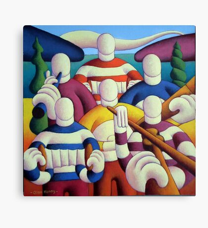 Trad. session big band Canvas Print