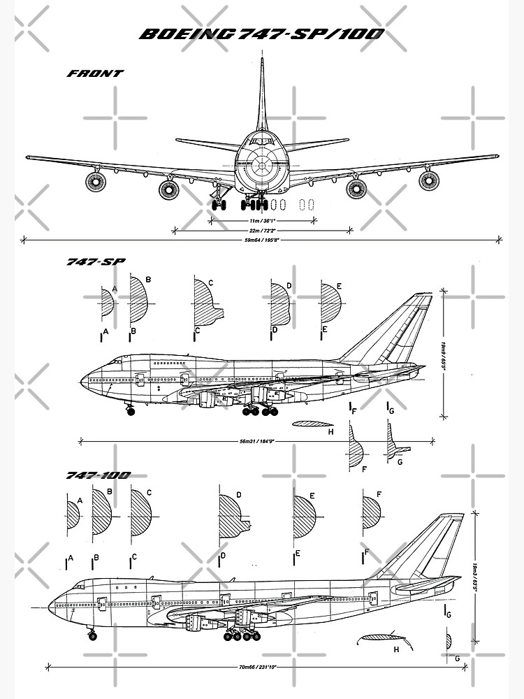 Boeing 747-SP and 747-100 Blueprint by RHorowitz