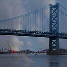 Ben Franklin Bridge by Sharon Batdorf