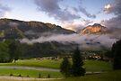 Dawn at Podkoren looking to Srendja Ponca, Slovenia by Cliff Williams