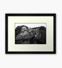 Mount Rushmore National Memorial Framed Print