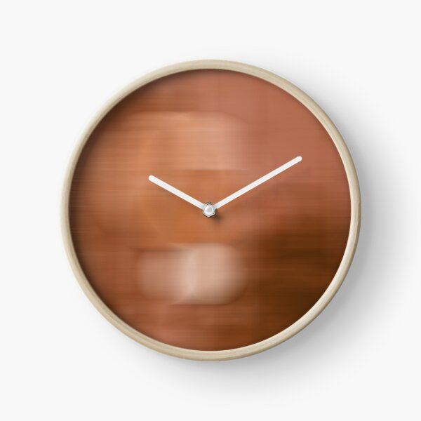 Orange abstract colours Clock