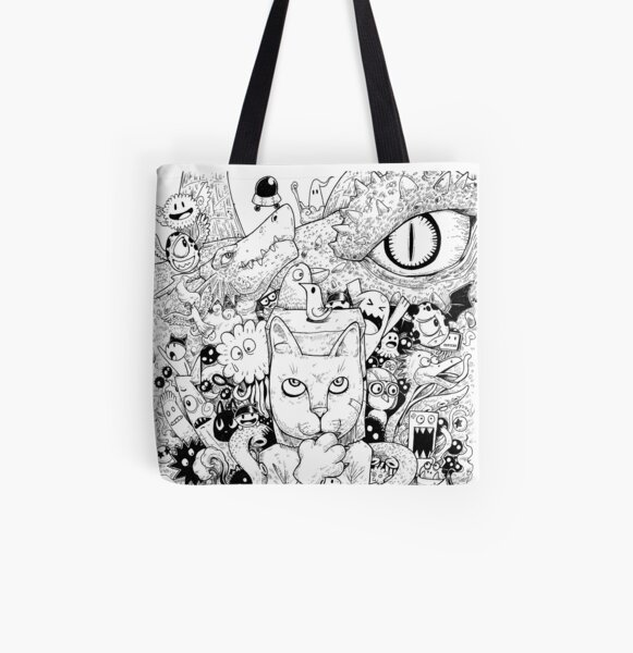 Monsterism - Monster Detective FIGHT! All Over Print Tote Bag
