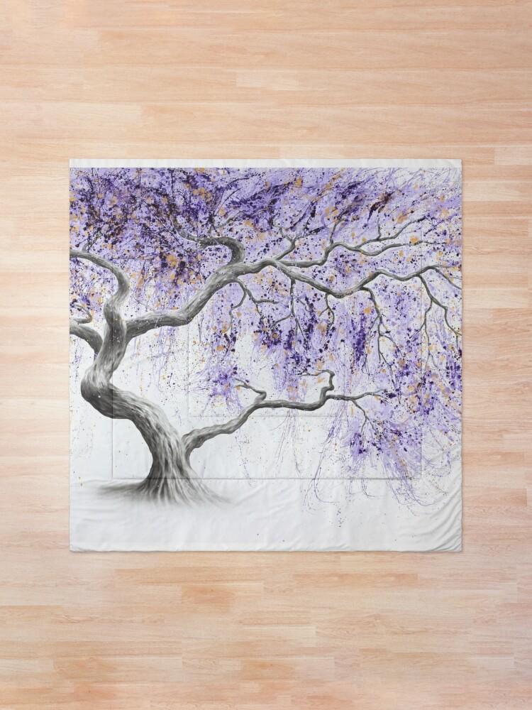 Alternate view of Purple Prosperity Tree Comforter