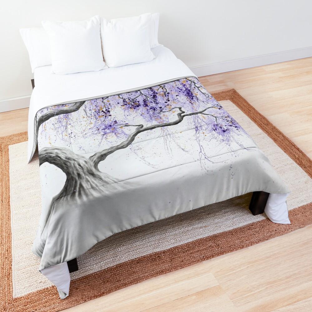 Purple Prosperity Tree Comforter
