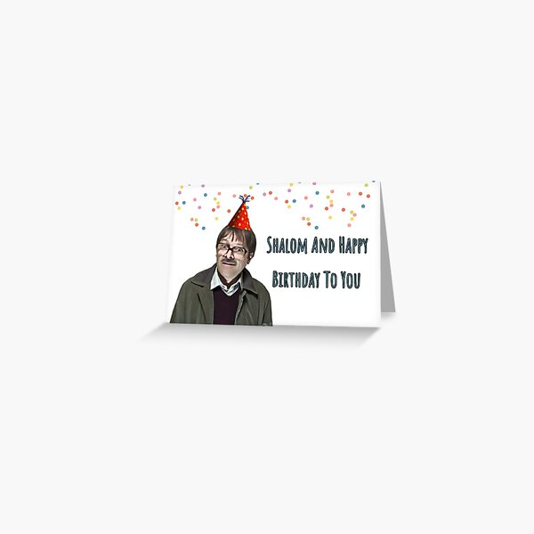 Shalom and Happy birthday to you, Friday night dinner Greeting Card
