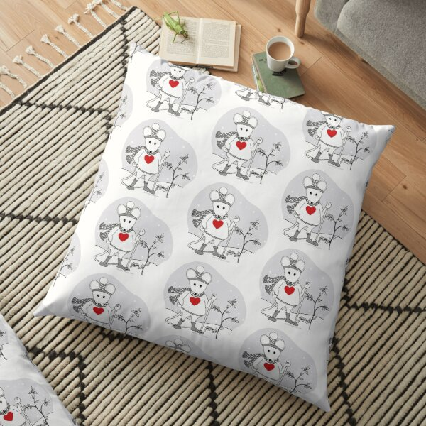 MantraMouse® as SnowMouse  Floor Pillow