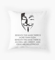 V For Vendetta Throw Pillow