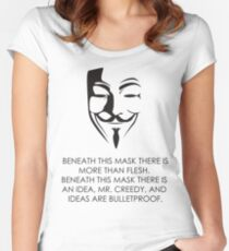 V For Vendetta Women's Fitted Scoop T-Shirt