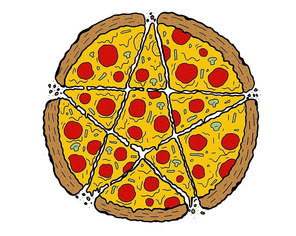 Satan Loves Pizza by kiwipunx