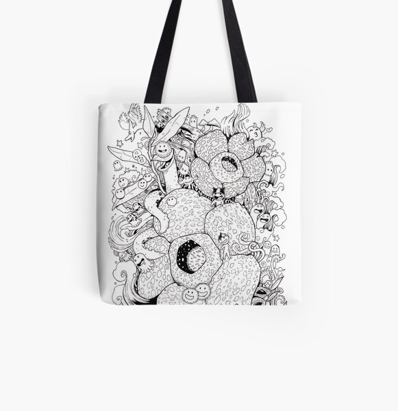 Flower and Monster - Rafflesia All Over Print Tote Bag
