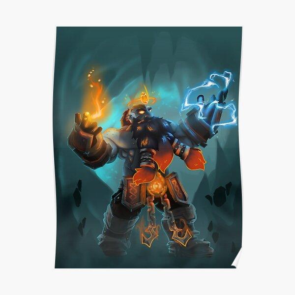 Dark iron dwarf shaman Hraunir Poster