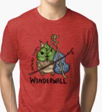 Camiseta de tejido mixto De todos modos aquí está Wonderwall