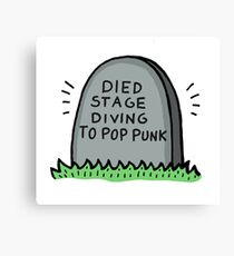 Died Stage Diving To Pop Punk Canvas Print