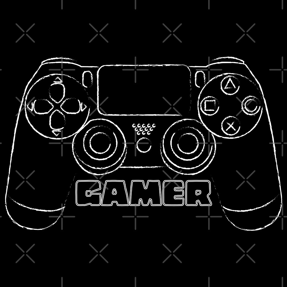 Gamer (distressed look) by Lauramazing