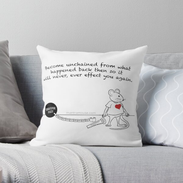 MantraMouse® Forgiveness Cartoon Throw Pillow