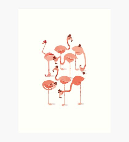 Flamingo's Art Print