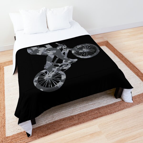 BMX camouflage grey Comforter