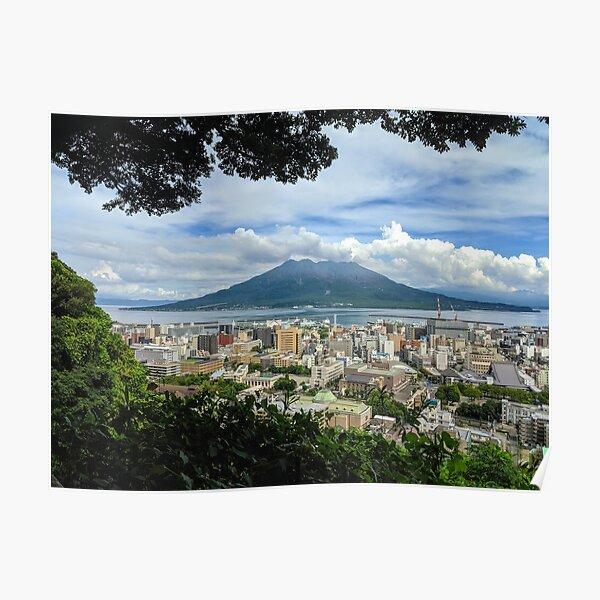 Sakurajima - Volcano seen from Kagoshima Poster