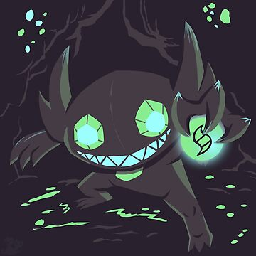 Sableye In A Cave by QookyQuiche