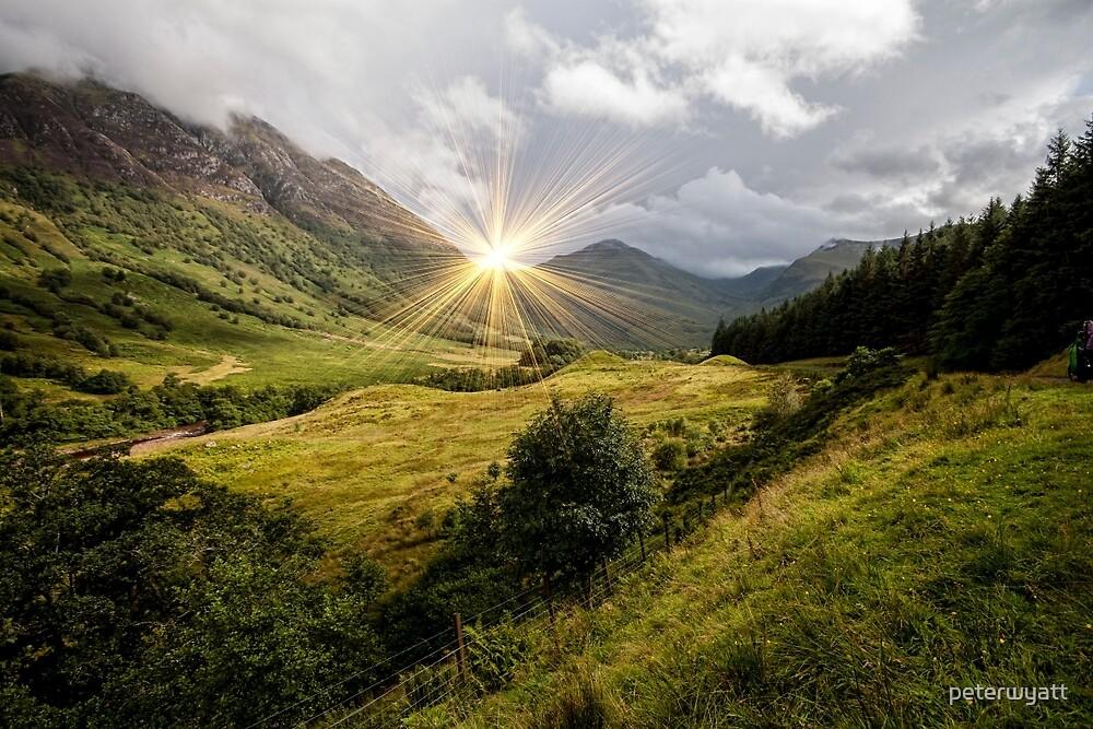 a view along the glen by peter wyatt