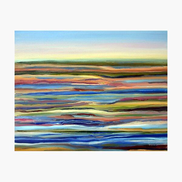 Salt Marsh Sunrise, Plum Island, Cape Ann, Massachusetts. From original oil painting by Pamela Parsons Photographic Print