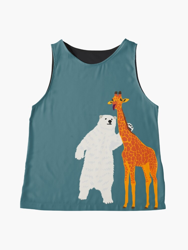 Alternate view of polar bear and giraffe, love is love Sleeveless Top
