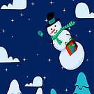 Snowman Christmas Sky Design by EBCustomDesign EBCD
